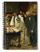 Signing The Marriage Register Spiral Notebook