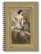 Signora Bruna In Abito Da Sera 1892 94 Giovanni Boldini Spiral Notebook