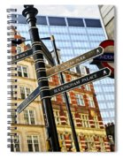 Signpost In London Spiral Notebook
