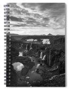 Sigoldufoss Waterfalls Iceland 1291 Spiral Notebook
