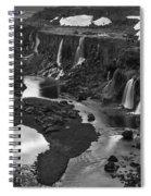 Sigoldufoss Waterfalls Iceland 1294 Spiral Notebook