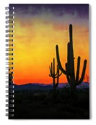 Sihouette Sunrise In The Sonoran Spiral Notebook