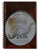Siinclair Dino Gasoline Sign Spiral Notebook