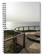Silence And Solitude - A Special Sunset Throne High Above The Ocean Spiral Notebook
