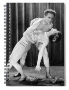 Silent Film Still: Dancing Spiral Notebook