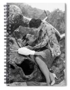 Silent Film Still: Picnic Spiral Notebook