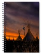 Silent Teepees Spiral Notebook