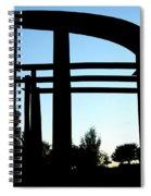 Silhouette At Sundown Spiral Notebook