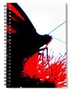 Silhouette Monarch With Red Spiral Notebook
