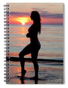 Silhouette Of A Fit Woman  Spiral Notebook