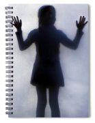 Silhouette Of A Girl Spiral Notebook