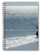 Silhouette Of A Man Fishing Spiral Notebook