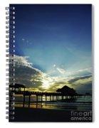 Silhouette Pier 60 Sunset Spiral Notebook