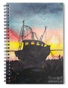 Grounded Shrimp Boat Spiral Notebook