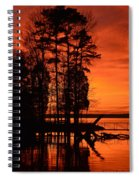 Silhouette Sunset Spiral Notebook