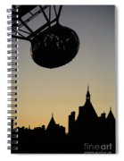 Silhouetted London Eye Capsule Spiral Notebook