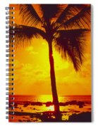 Silhouetted Palm Spiral Notebook