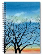 Silhouettes Against The Sky Spiral Notebook