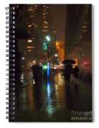 Silhouettes In The Rain - Umbrellas On 42nd Spiral Notebook