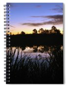 Silhouettes Of Sunrise Spiral Notebook