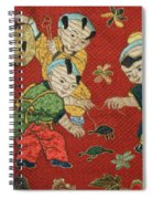 Silk Robe - Children Playing With Turtle Spiral Notebook