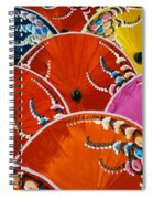 Silk Umbrella Factory Spiral Notebook