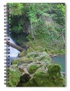 Silky Waterfall Spiral Notebook