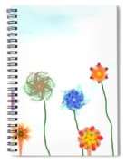 Silly Fractal Garden Spiral Notebook