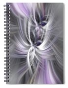 Silver Abstract Ascension. Mystery Of Colors Spiral Notebook