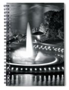 Silver And Black Spiral Notebook