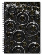 Silver And Gold Collage Spiral Notebook