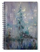 Silver And Silent Spiral Notebook