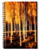Silver Birches Flaming Abstract  Spiral Notebook
