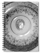 Silver Cameo Plate Spiral Notebook