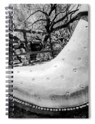 Silver Cowboy Boot Spiral Notebook