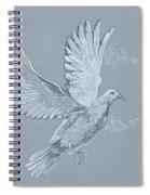 Silver Dove Spiral Notebook