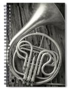 Silver French Horn Spiral Notebook