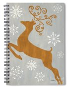 Silver Gold Reindeer Spiral Notebook