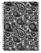 Silver Gray Paisley Design Spiral Notebook
