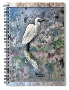 Silver Lake Snowy Egret Spiral Notebook