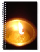Silver Lamp Spiral Notebook