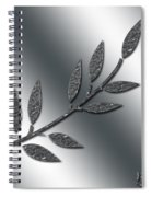 Silver Leaves Abstract Spiral Notebook
