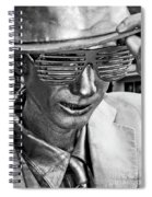 Silver Man Mime Spiral Notebook