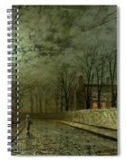 Silver Moonlight Spiral Notebook