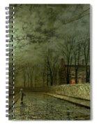 Silver Moonlight Spiral Notebook