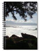 Hawaiian Silver Ocean Spiral Notebook
