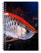 Silver Orange Arowana  Spiral Notebook