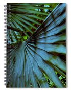 Silver Palm Leaf Spiral Notebook