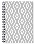 Silver Pattern Spiral Notebook