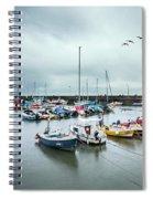 Silver Rain Spiral Notebook
